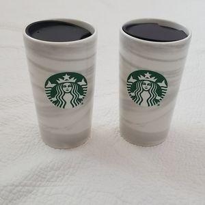 Set of Starbucks Marble To Go Mug